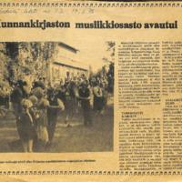 Kunnankirjaston musiikkiosasto avautui