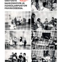 Joulun odotusta Sahkonhovin ja Huhkolanpuiston päiväkodeissa