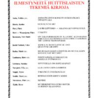 Vuoden 1995 aikana ilmestyneitä huittislaisten tekemiä kirjoja