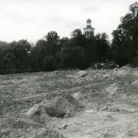 Tietöitä Puistotien suunnalla 1980-luvun alussa