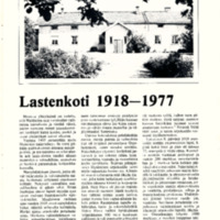 Lastenkoti 1918-1977
