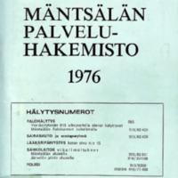 Mäntsälän palveluhakemisto 1976