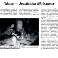 Odessa - Juutalaisten lähtösatama