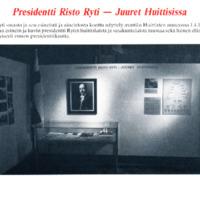 Presidentti Risto Ryti - Juuret Huittisissa