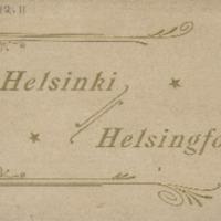 Helsinki = Helsingfors