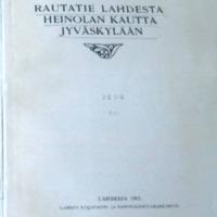 Rautatie Lahdesta Heinolan kautta Jyväskylään