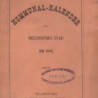 Kommunal-kalender för Helsingfors stad år 1881
