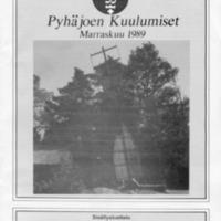 Pyhäjoen Kuulumiset : Marraskuu 1989