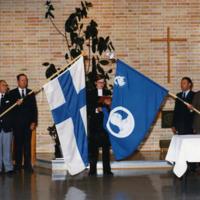 Veteraaniyhdistyksen lipun vihkiminen