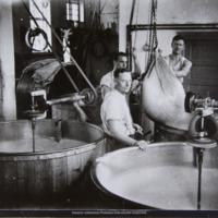 Juuston valmistusta meijerissä