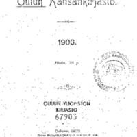 Oulun kansankirjasto 1903