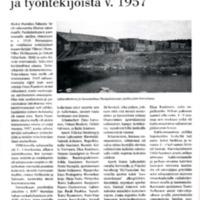 Hurulan sahan toimintasta ja työntekijöistä v. 1957