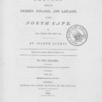 Travels through Sweden, Finland and Lapland to the North Cape in the years 1798 and 1799. Vol 2