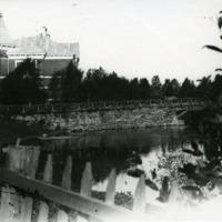 Palojoen ylittävä silta Orimattilan kirkonkylällä 1920-luvulla