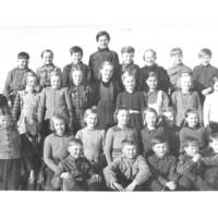 Leppäselän oppilaita vuonna 1950