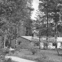 Näkymä uuden kanttorilan suuntaan 1965