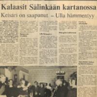 Kalaasit Sälinkään kartanossa : Keisari on saapunut - Ulla hämmentyy