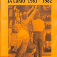 Mäntsälän yläaste ja lukio 1981-1982