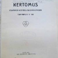 Itä-Hämeen kotiteollisuusyhdistys : toimintakertomus v:lta 1913