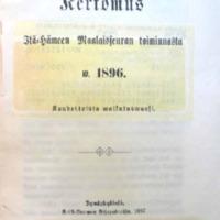 Kertomus Itä-Hämeen maalaisseuran toiminnasta w. 1896<br />
