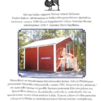 Kirvun pitäjämuseo Mäntsälän kirkonmäellä