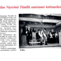 Suttilan Näytelmä Tiimillä onnistunut kulttuurikeikka