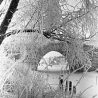 Nummen silta talvihuurteessa