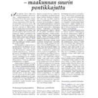 Rötkönpuron tehtailu - maakunnan suurin pontikkajuttu