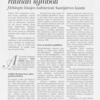 Olympiatuli on rauhan symboli : Helsingin kisojen soihtuviesti Saarijärven kautta