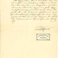 Viktor Lönnbohmin työtodistus 27.5.1891