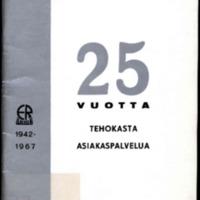 K-tavaratalo Rantapere 1942-1967 : 25-vuotisjulkaisu