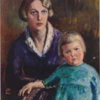 F.E. SIllanpään vaimo ja tytär 1925
