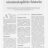 Saarijärven nimismiespiirin historia