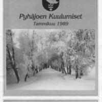 Pyhäjoen Kuulumiset : Tammikuu 1989