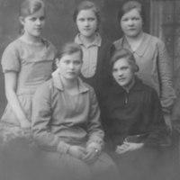 Rippikoulululaisia Iisalmessa vuonna 1929
