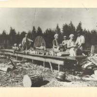 Sahausta ja päreen höyläystä 1935