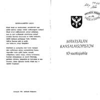 Mäntsälän kansalaisopiston 10-vuotisjuhla