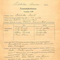 Toimintakertomus vuodelta 1930