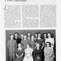 Muisteluksia oppikoulusta 1940-luvulla