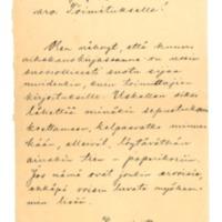 Fredr. Lindströmin kirje Nykyaika-lehden toimitukselle