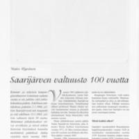 Saarijärven valtuusto 100 vuotta