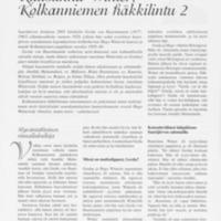 Ruustinna Winter, Kolkanniemen häkkilintu 2