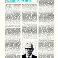 Valtiopäämies Kaarlo Wärri