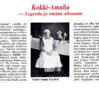 Kokki-Amalia - Legenda jo omana aikanaan