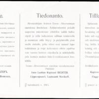 Suomenmaan kenraalikuvernöörin tiedonantoja 1914-1916