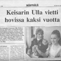 Keisarin Ulla vietti hovissa kaksi vuotta