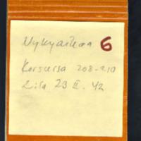 Korsussa. Käsikirjoitus helmikuu 1942