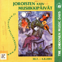 Joroisten musiikkipäivien käsiohjelma 2001