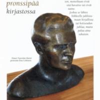 Einari Vuorelan pronssipää kirjastossa