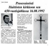 Prosessioristi Huittisten kirkkoon sen 650-vuotisjuhlassa 16.08.1992